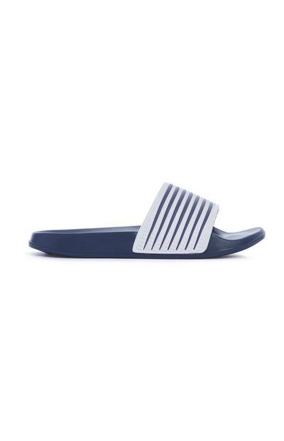 Navy Stripe Slider
