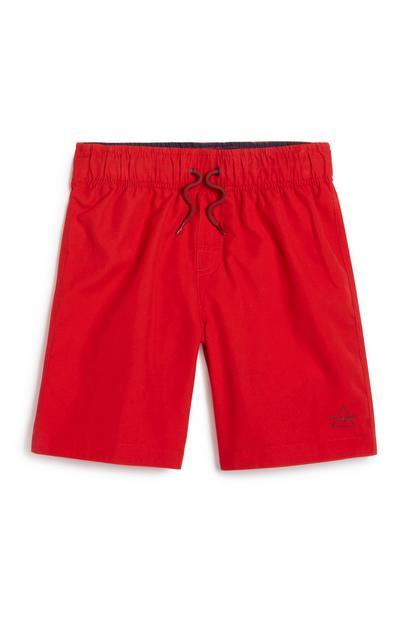 Older Boy Red Swim Short