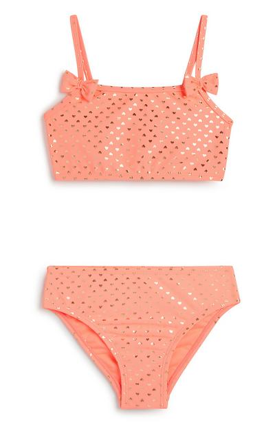 Younger Girl Coral Bikini