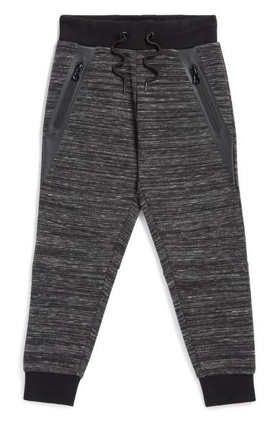Black Zip Jogger