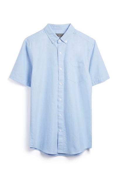 Kurzärmliges Hemd in Blau