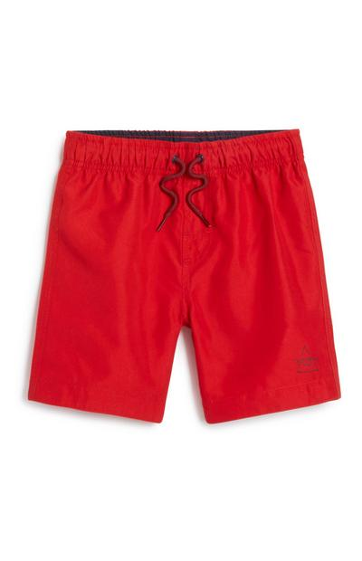Younger Boy Red Swim Short