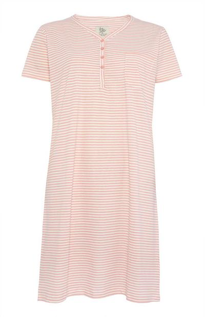 Pink Stripe Night Dress