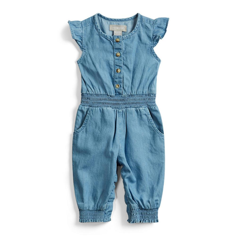 d0fb2400 Baby Girl Denim Jumpsuit | Baby Girl | Kids | Categories | Primark ...