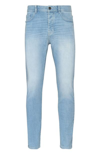 Light Wash Stretch Straight Leg Jean