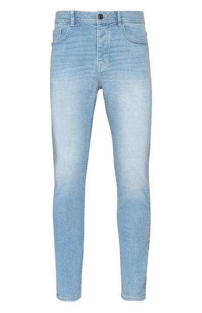 Light Wash Stretch Straight Leg Jean