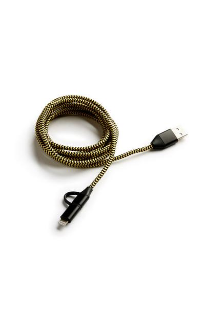 Yellow 2in1 2M Charge Cable