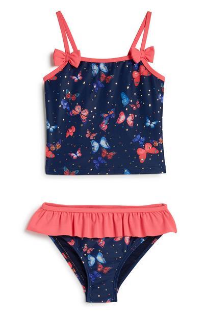 Younger Girl Butterfly Bikini