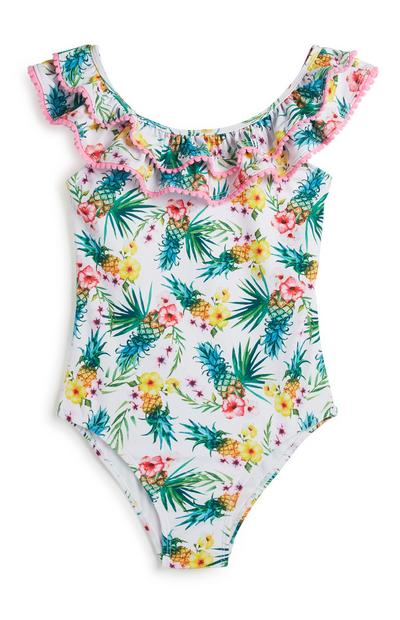 Older Girl Floral Swimsuit