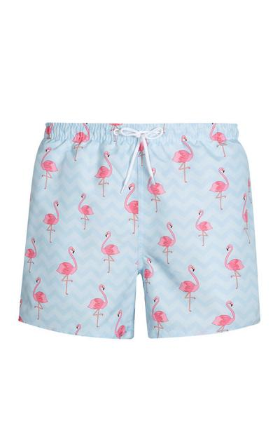 Blue Flamingo Swim Short