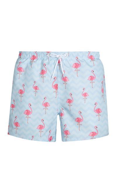 Blue Flamingo Swim Short