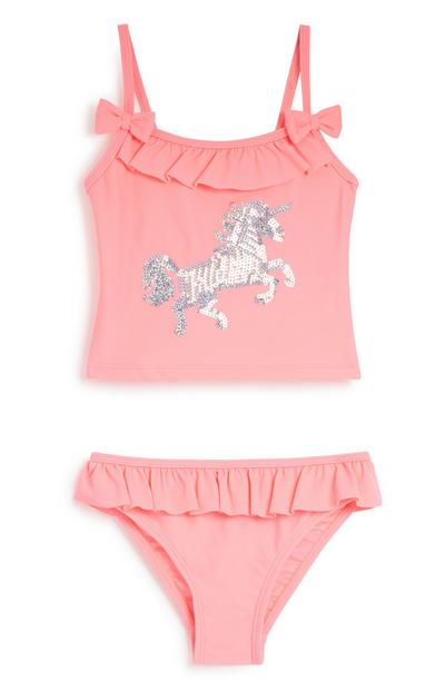 Younger Girl Sequin Unicorn Tankini