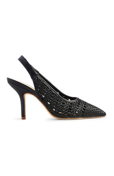Woven Slingback Court Shoe