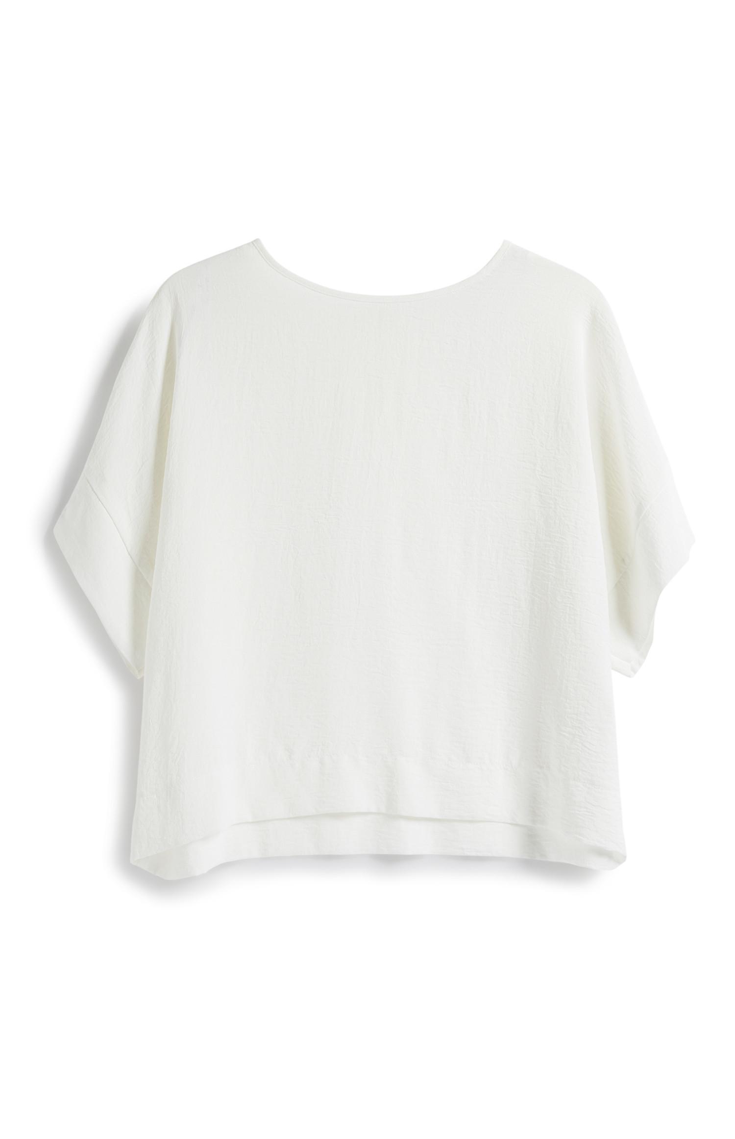 Kurzes T-Shirt in Weiß