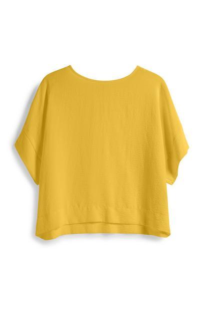 Yellow Crop T-Shirt
