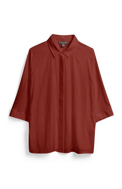 Terracotta Wide Sleeve Shirt