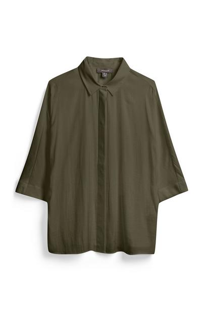 Khaki Wide Sleeve Shirt