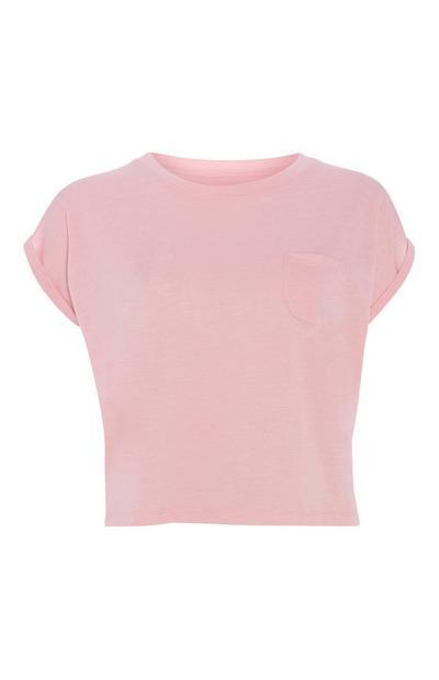 Pink Crop T-Shirt