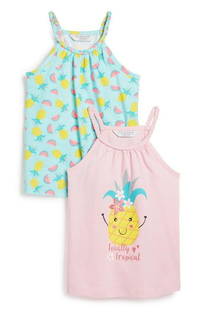 Younger Girl Vest 2Pk
