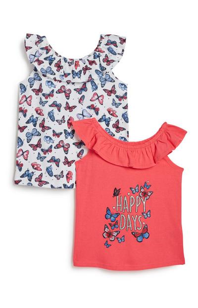 Younger Girl Butterfly Top 2Pk