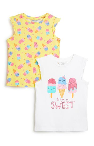 Younger Girl Ice Lolly Vest 2Pk