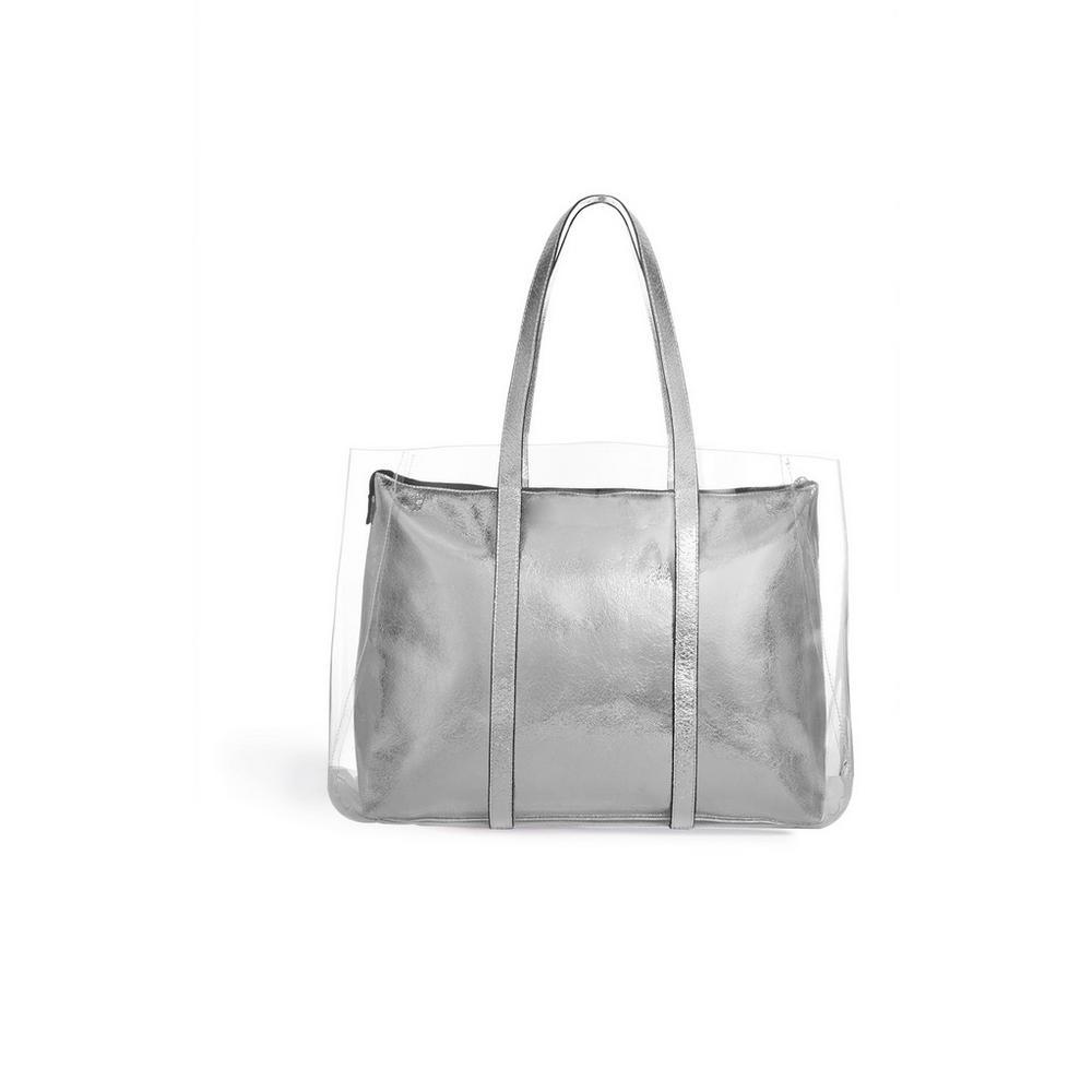 regard détaillé dd0d3 05c7e Cabas argenté transparent | Sacs | Mode femme | Les ...