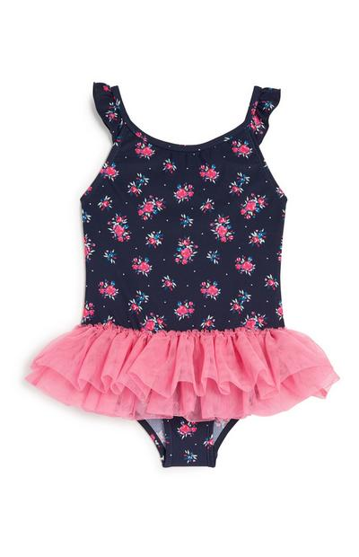 Younger Girl Floral Tutu Swimsuit