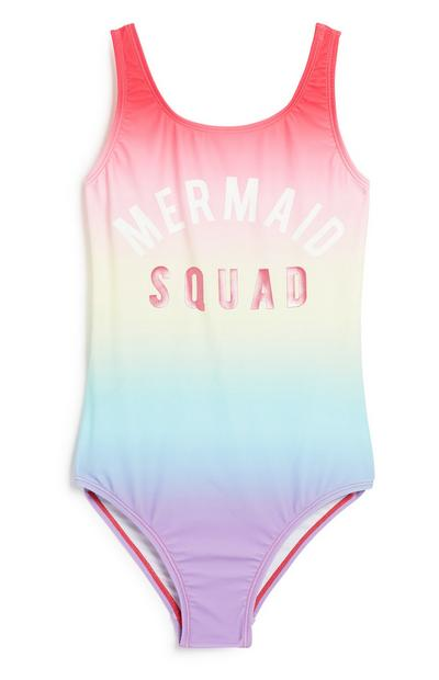 Older Girl Ombre Swimsuit