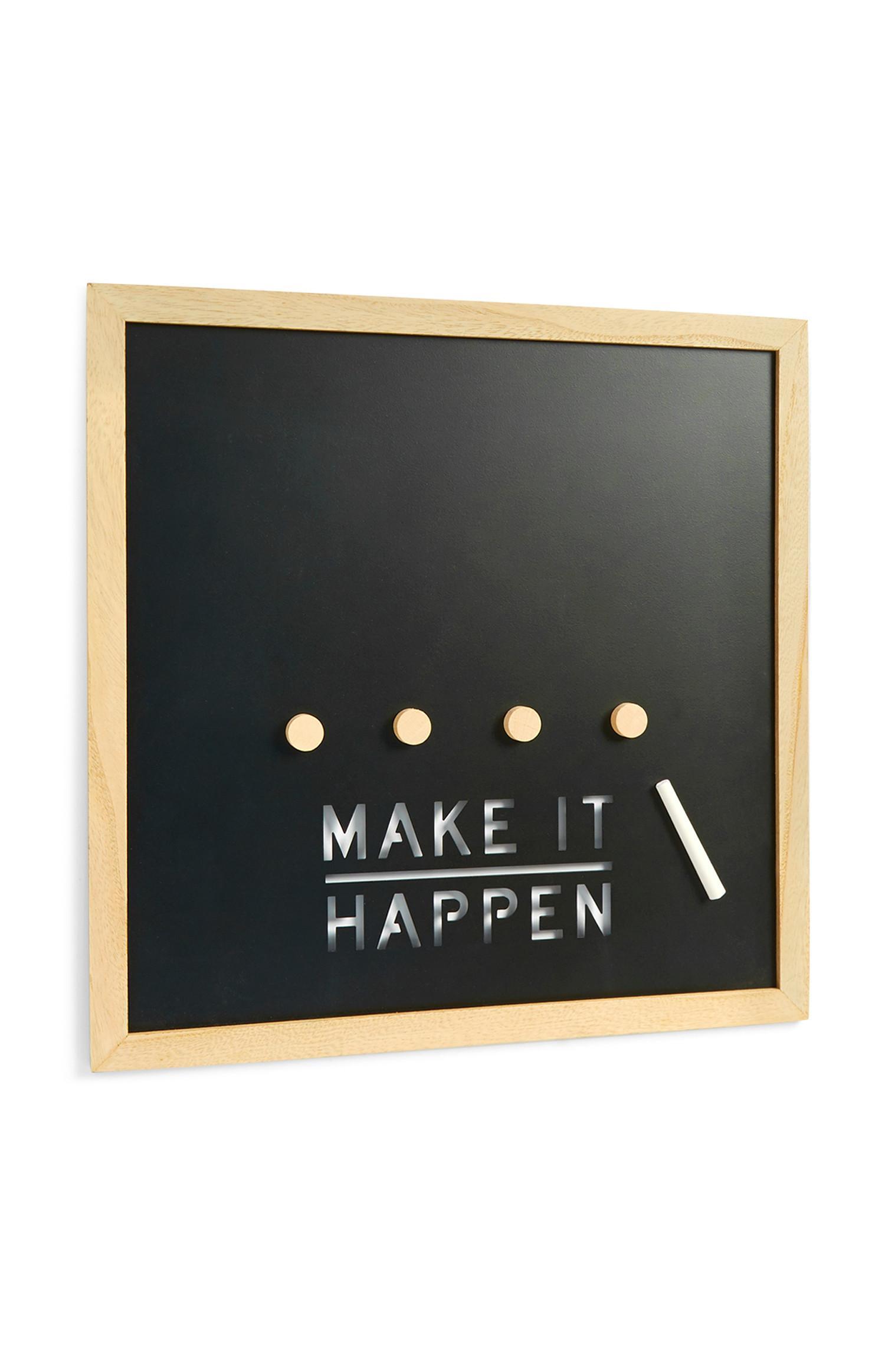 Slogan Chalkboard