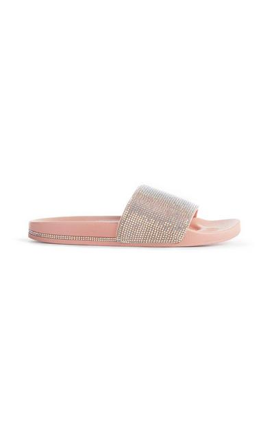 Pink Diamante Slider