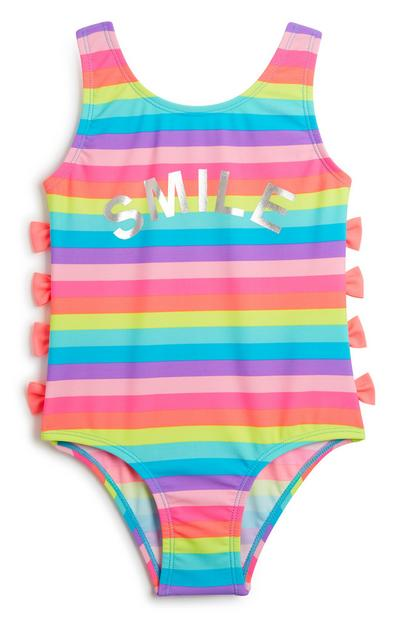 Younger Girl Stripe Swimsuit