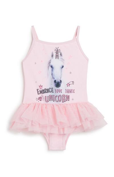 Younger Girl Unicorn Swimsuit