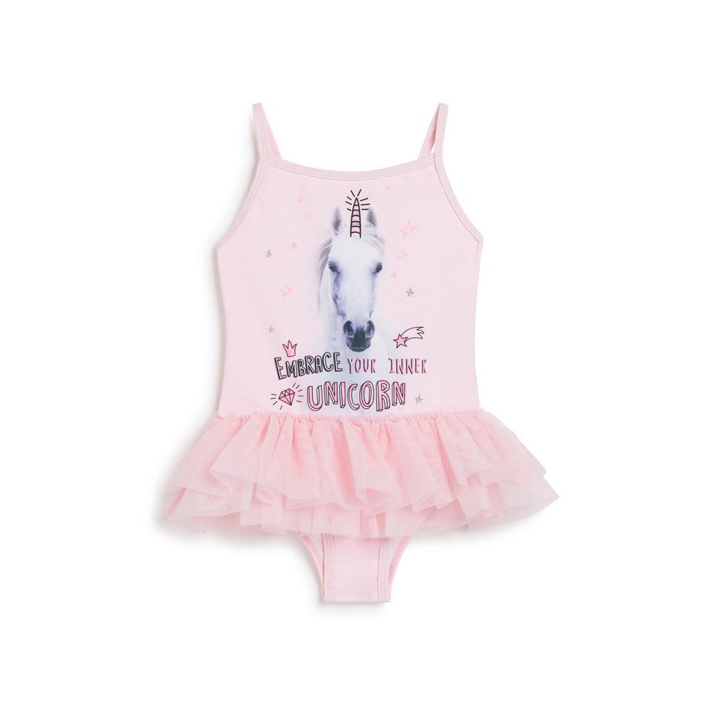 Badeanzug mit Einhorn Motiv (kleine Mädchen) | Mode für