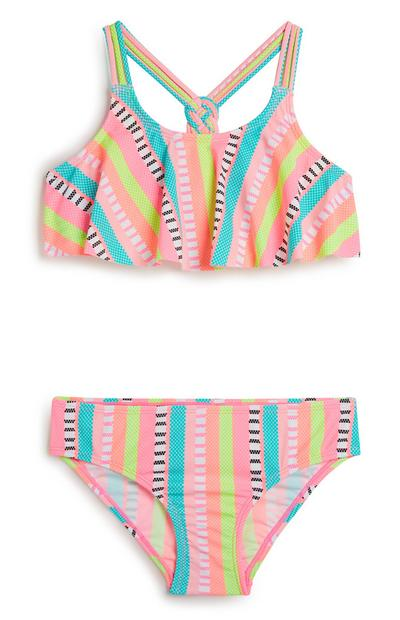 Older Girl Stripe Bikini