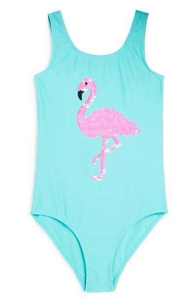 Older Girl Flamingo Swimsuit