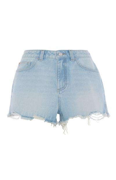 High Waisted Light Blue Short