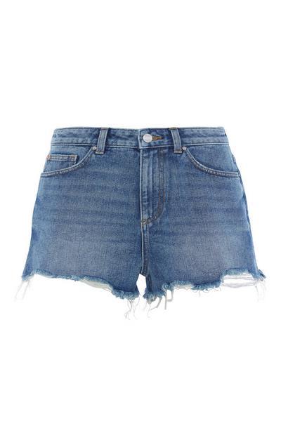 High Waisted Mid Blue Short