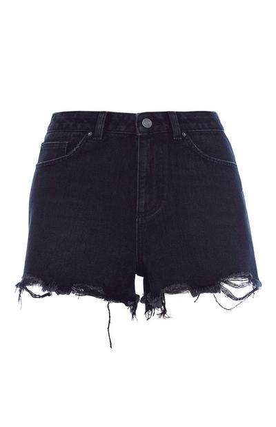 High Waisted Black Short