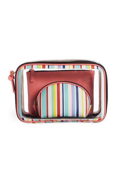 Stripe Cosmetic Case 3Pk