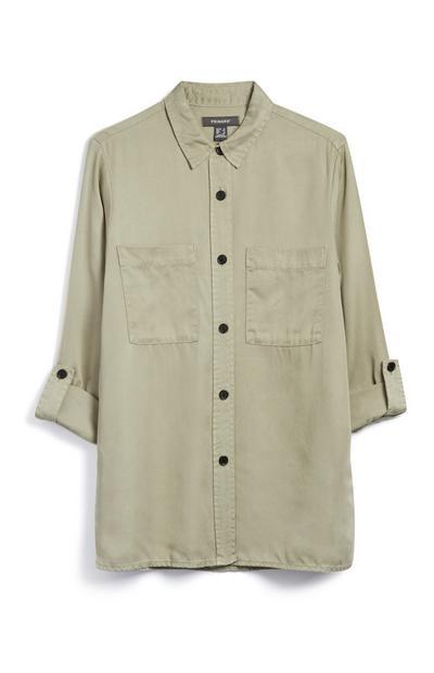 Khaki Long Shirt