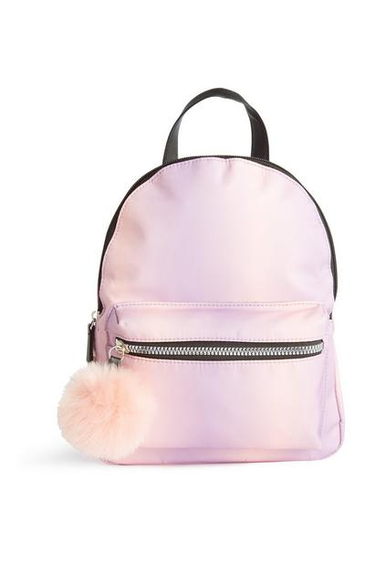 Pink Pom Pom Backpack