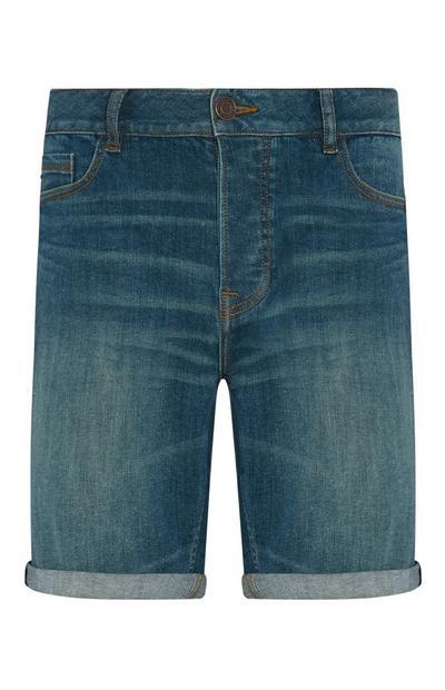 Denim Folded Shorts
