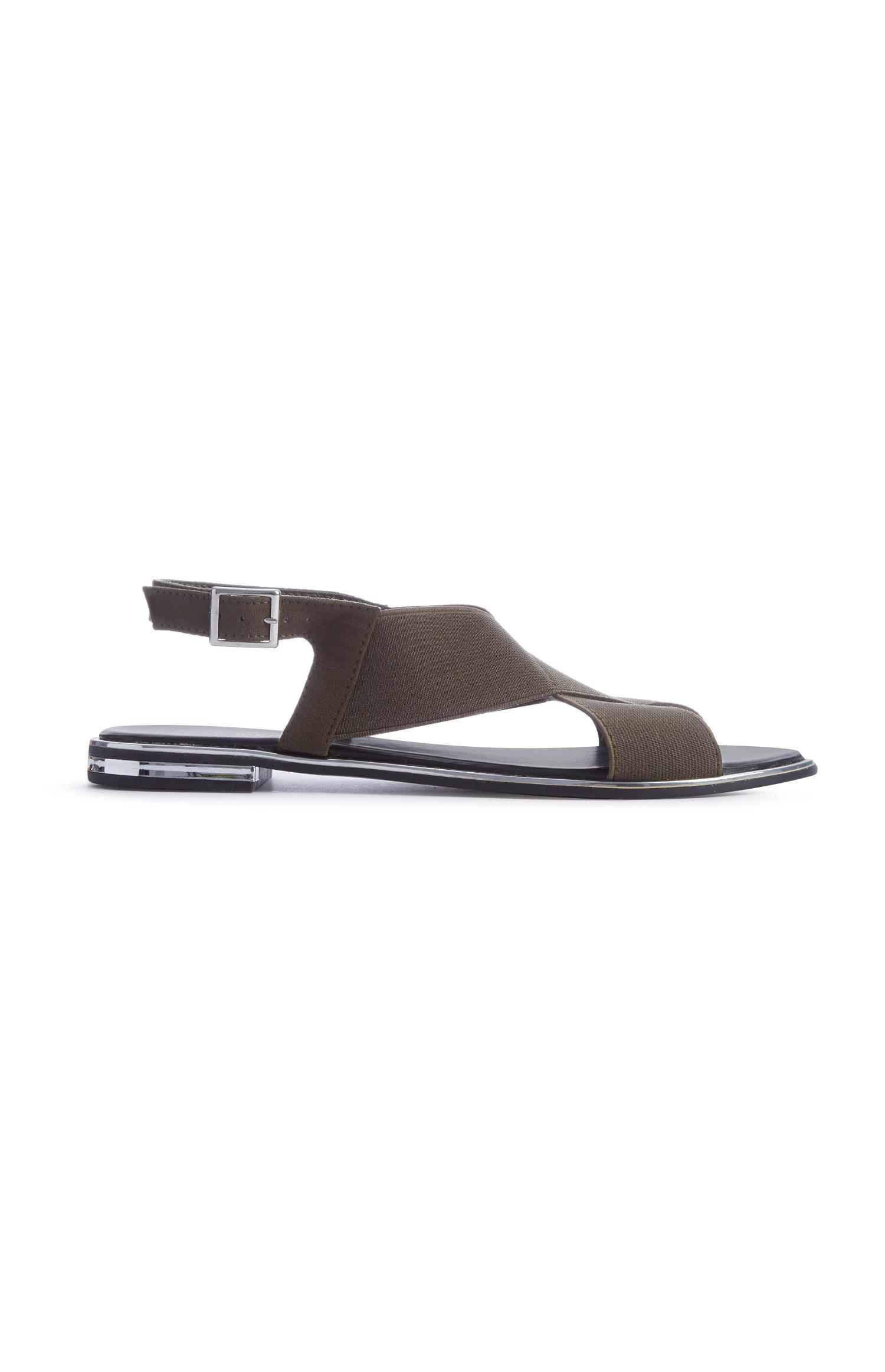 Khaki Cross Strap Sandal