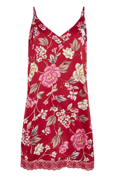 Red Floral Chemise