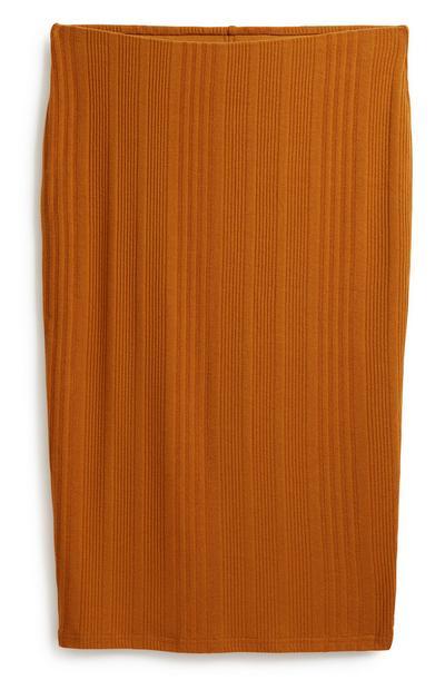 Ribbed Midi Skirt
