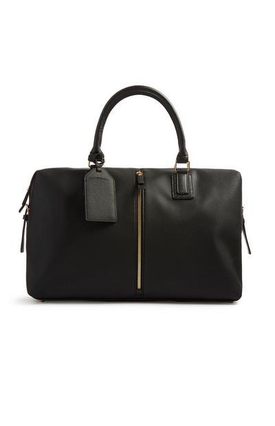 Black Zip Front Weekender Bag