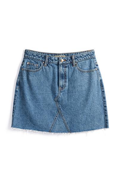 Blue High Waist Skirt