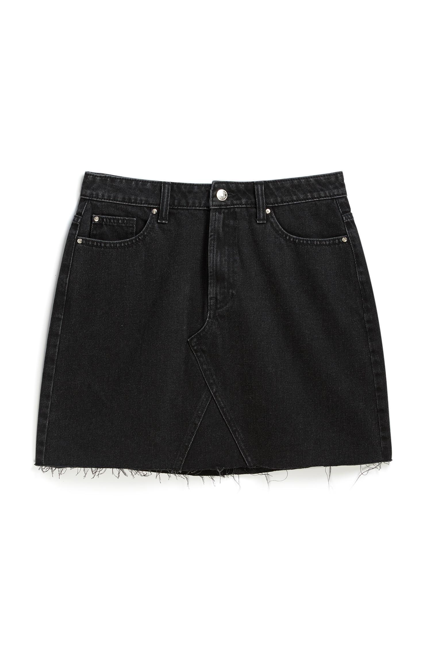 Black Denim Skirt