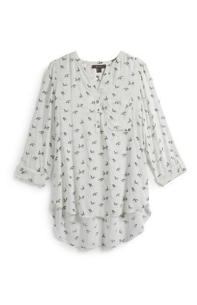 Bird Print Tunic Top