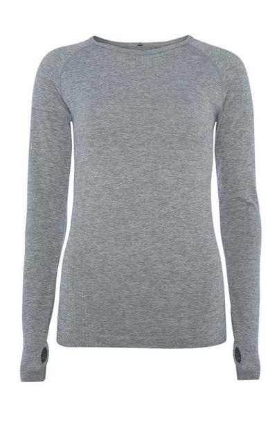Grey Workout Top